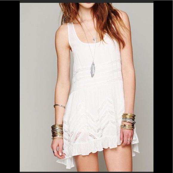 Olivaceous Dresses & Skirts - Olivaceous Eyelet Dot Lace Trapeze Tent Dress